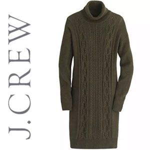 J. Crew Wool Cable Turtleneck Sweater Dress XS